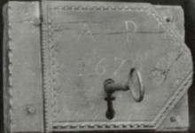 Pembroke Lock, inscribed 'A P 1670'.