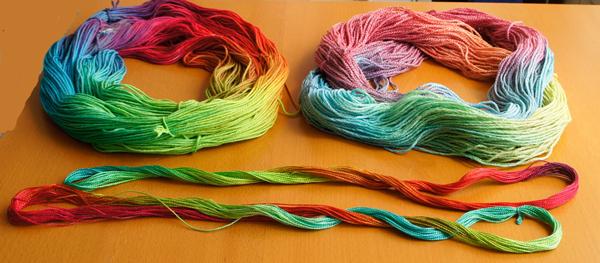 Rainbow Dyeing
