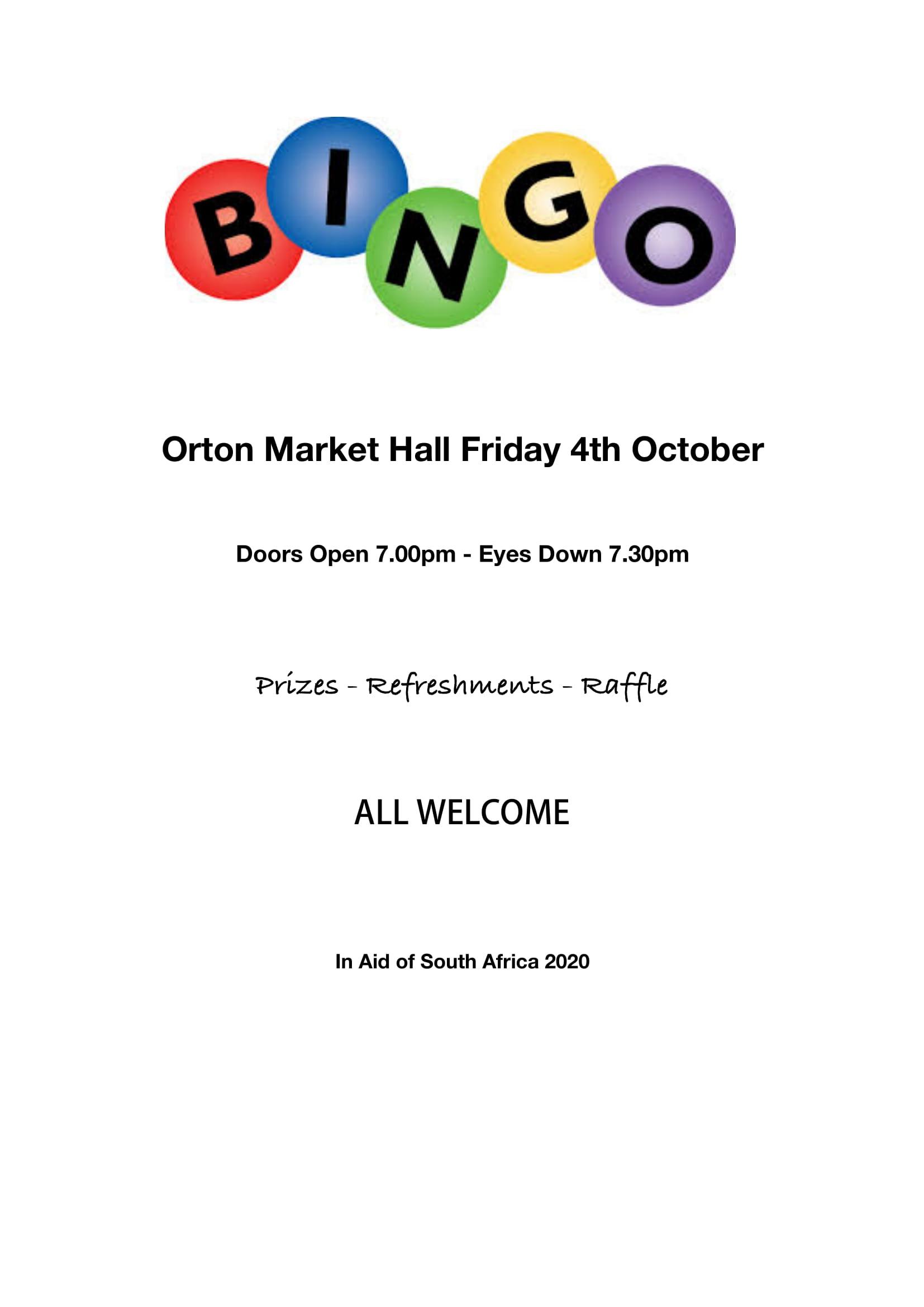 Bingo Night for SA