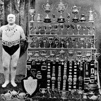 George Steadman with some of his many Cups & Medals